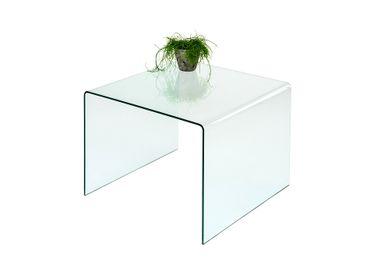 Couchtisch Glastisch  60x60 cm gebogen Sicherheitsglas ESG