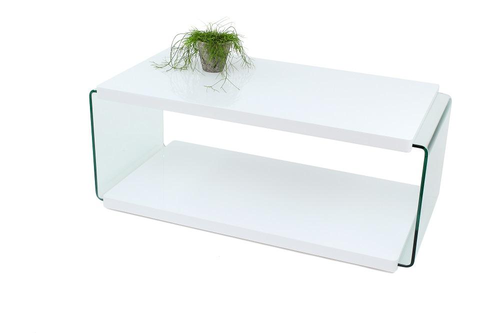 Couchtisch Wohnzimmertisch Weiß Hochglanz Glasseiten 110x44x55 Couchtisch Wohnzimmertisch Weiß Hochglanz Glasseiten 110x44x55 001