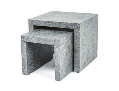 Beistelltisch Set Couchtische Wohnzimmertische 2 Stück Stone Optik