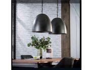 Hängelampe edle Esstischlampe mit 2 großen Lampenschirmen anthrazit