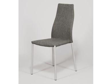 Esszimmerstühle 2erSet Objektstühle Textil grau