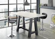 Stehtisch Bartisch Office Tisch Bistrotisch Weiß matt 120x70