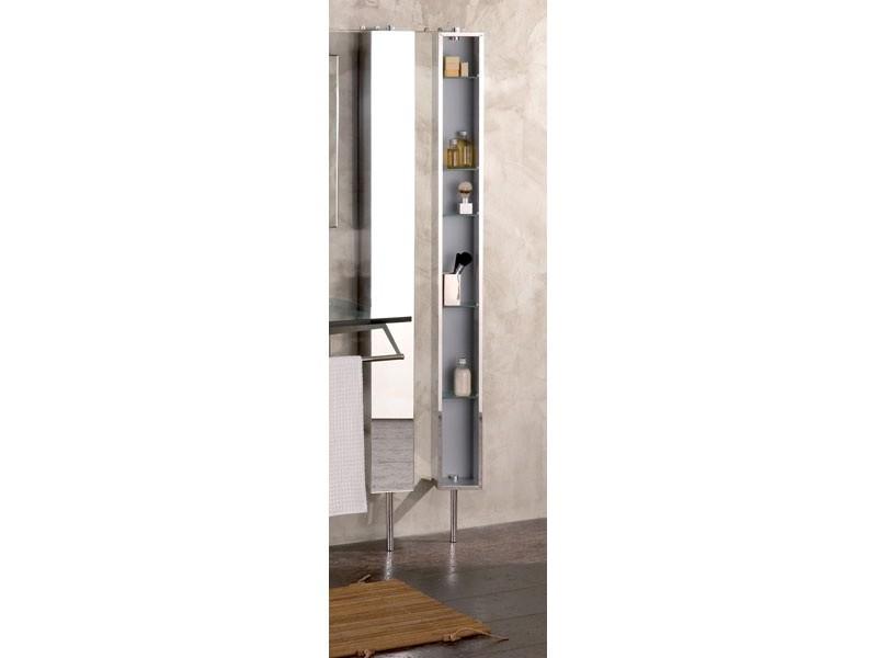 Spiegelschrank Drehschrank Edelstahl breit 25 cm Pika