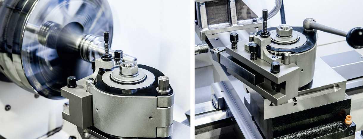 Multifix tool holder Werkzeughalter im Einsatz auf der Drehmaschine