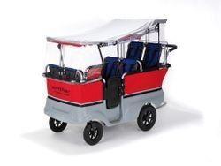 Regenschutz für den Turtle Kinderbus (Modell 8900801) und den E-Turtle Kinderbus (Modell 8901802) von Winther. Für Turtlebus 6-Sitzer und E-Turtlebus 6-Sitzer