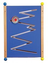 Wandelement blau  Zick Zack  aus MDF-Holz, Großversion 80 cm X 56 cm,  hergestellt in Deutschland!