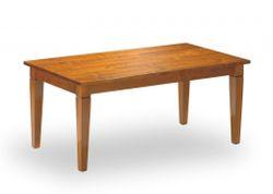 Esstisch / Tisch Bourges im Landhaus-Stil mit Stollenauszug oder Klappauszug, der massive Masstisch mit Plattenüberstand / Eiche, Buche oder Kichschbaum