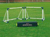 Fußballtor Set / Mini-Soccer Goal 16 Set (1 großes Tor oder 2 kleine Tore) - steckbare Tore für Kinder und Jugendliche jeden Alters