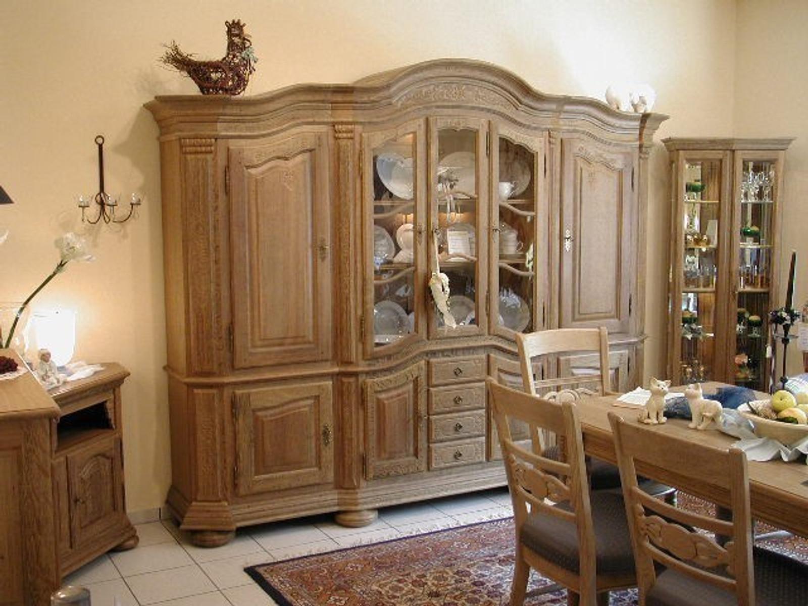 massive eichenmöbel wohnschrank wohnzimmer schrank bogenschrank