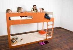Hochbett  AMBERintheSKY mit Leiter rechts  von perludi design - in diversen Farben - auch mit 2 Schlafebenen