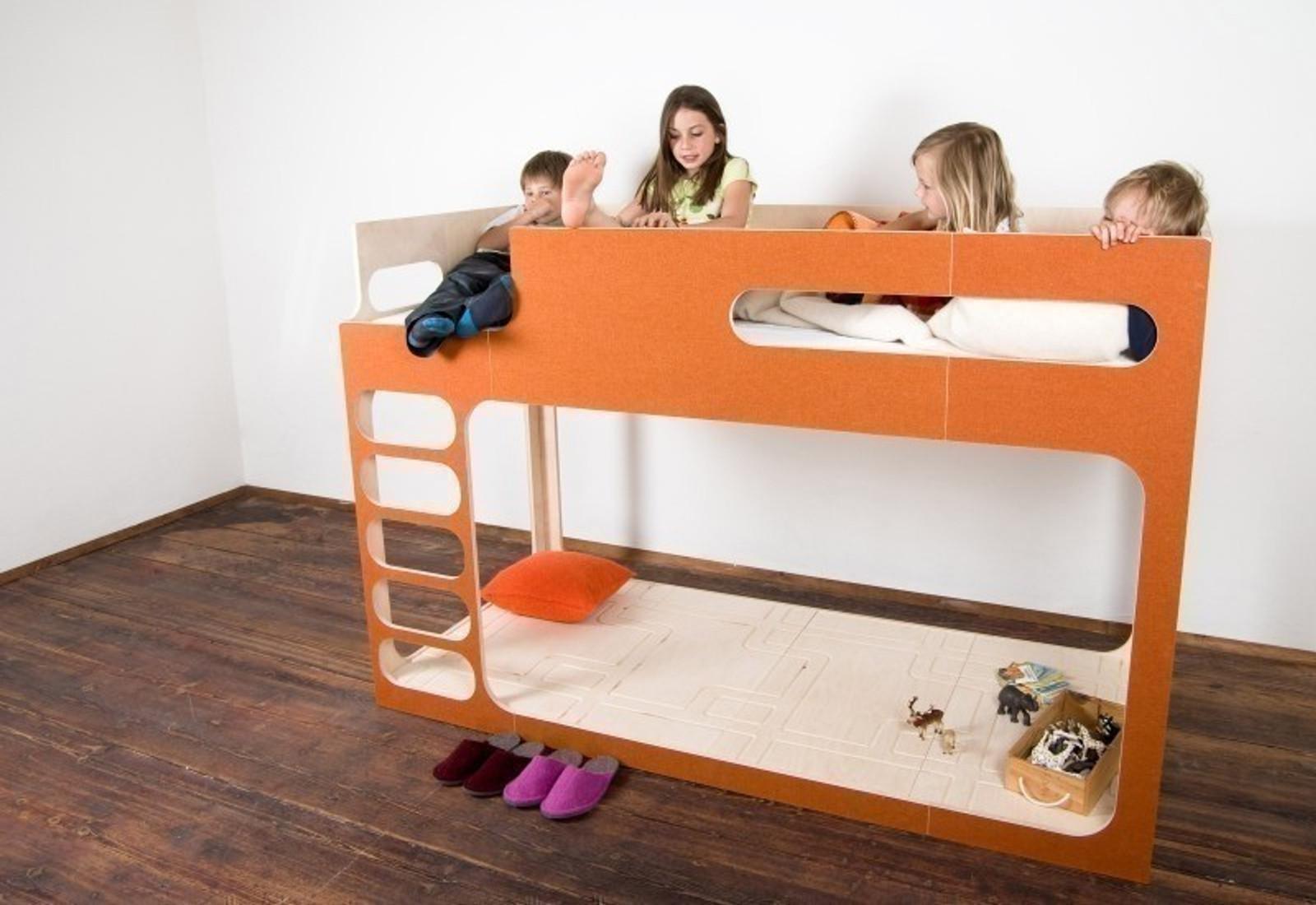 hochbett amberinthesky mit leiter links von perludi design in diversen farben auch mit 2. Black Bedroom Furniture Sets. Home Design Ideas