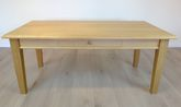 Couchtisch / Wohnzimmertisch / Sofatisch  Landhaus mit Schublade  130x70 cm - Höhe 55 cm Eiche Natur - andere Maße sind möglich, Eiche Buche Kirschbaum massiv, Holzplatte mit Profilfräsung
