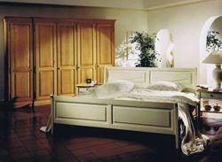 Schlafzimmerprogramm Jütland, Eiche, Buche oder Kirschbaum massiv, Bett, Kleiderschrank, Nachtschränke