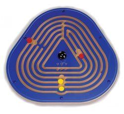 Wandkreisel Labyrinth mit Wandhalterung aus MDF-Holz / Durchmesser: 62,5 cm / 12mm dick