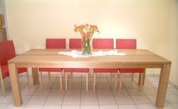 Esstisch / Tisch Variato 240 X 100 cm, der Masstisch in Eiche, Asteiche, Buche oder Kirschbaum massiv 4-Fuß