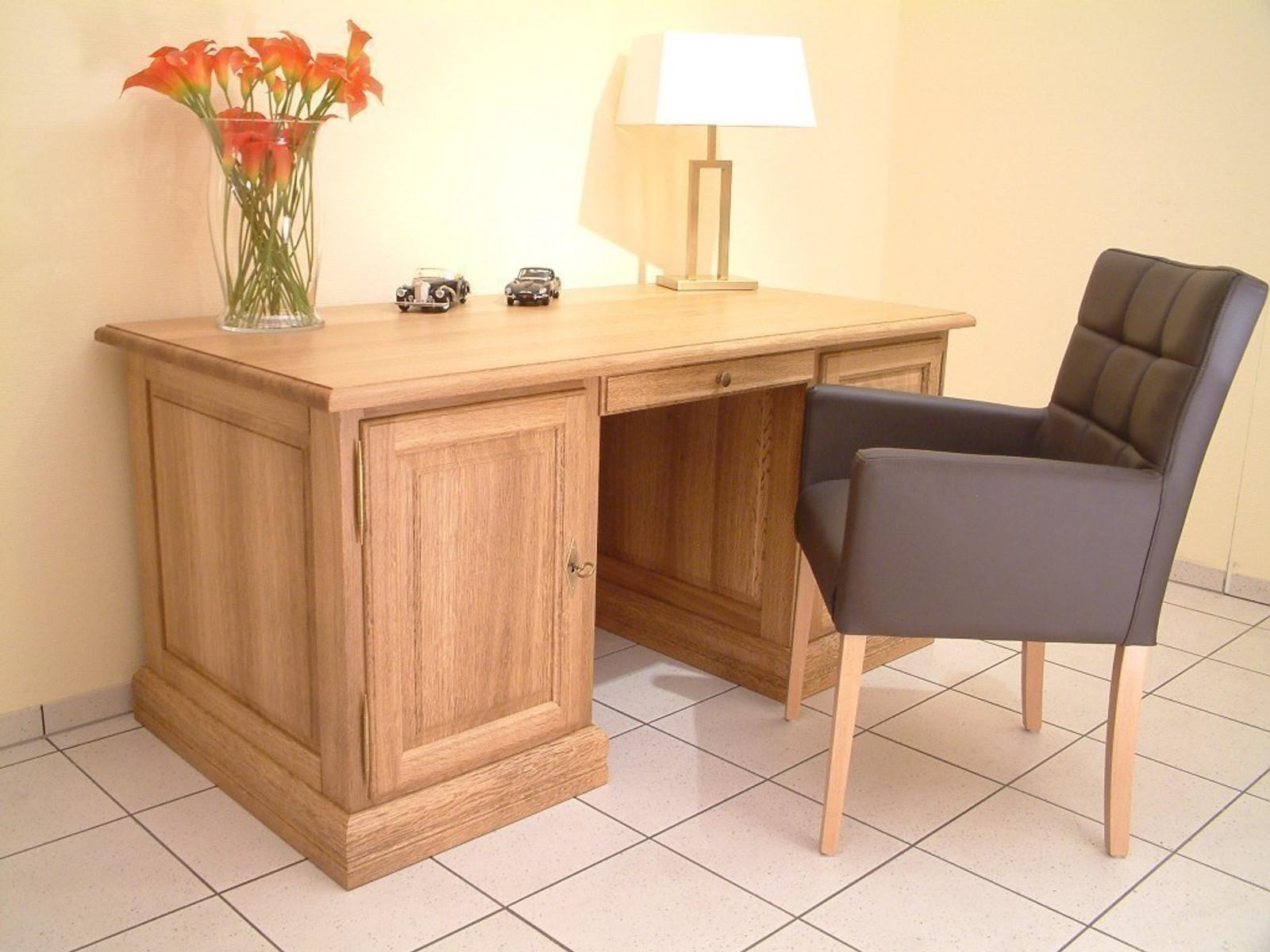 """Schreibtisch in Eiche, Buche oder Kirschbaum massiv - der Maßschreibtisch nach Wunsch - Modell: """"Schreibtisch Norden"""""""