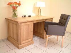 Schreibtisch in Eiche, Buche oder Kirschbaum massiv - der Maßschreibtisch nach Wunsch - Modell:  Schreibtisch Norden