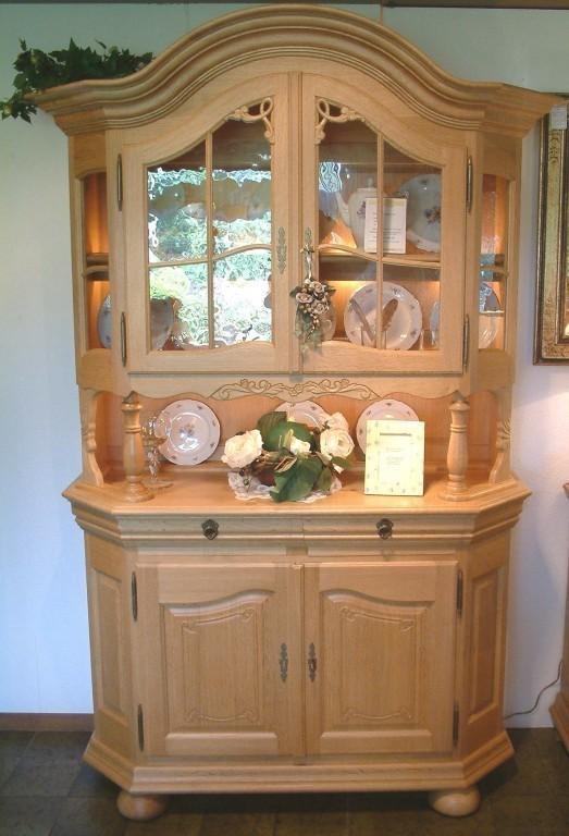 vitrine bogenvitrine glasvitrine rustikal gelaugt eiche voll massiv modell soltau 2. Black Bedroom Furniture Sets. Home Design Ideas