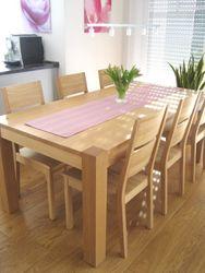 Esstisch / Tisch Coesfeld 190 X 95 cm, der Masstisch in Eiche, Asteiche, Buche oder Kirschbaum massiv / 4-Fuß Esstisch