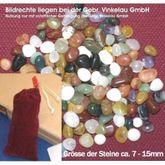 Halbedelsteinspiel aus Buche (incl. Beutel mit 80 echten Halbedelsteinen) Steinchenspiel / Edelsteinspiel / HUS / Made in Germany!
