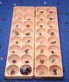 Halbedelsteinspiel aus Buche mit aufgravierter Spielanleitung (inkl. 80 Halbedelsteine) Steinchenspiel / Edelsteinspiel / HUS / Made in Germany!