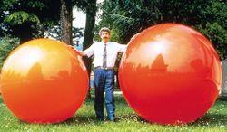 1 x Megaball von GYMNIC (Durchmesser: 150 cm / Farbe: orange)