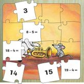 Feedback Puzzle  Subtraktion bis 20  - tolles Tier-Holzpuzzle (27 x 27 cm) von K2 Publisher