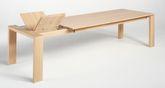 Esstisch / Tisch Quardo mit Stollenauszug - der Maßtisch in Eiche, Wildeiche, Kirschbaum oder Buche massiv