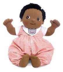 Rubens Baby Dark Girl Nora (handgefertigte Rubens Barn Original Puppe / Größe: 45 cm / Gewicht: 700 g) Neues Outfit