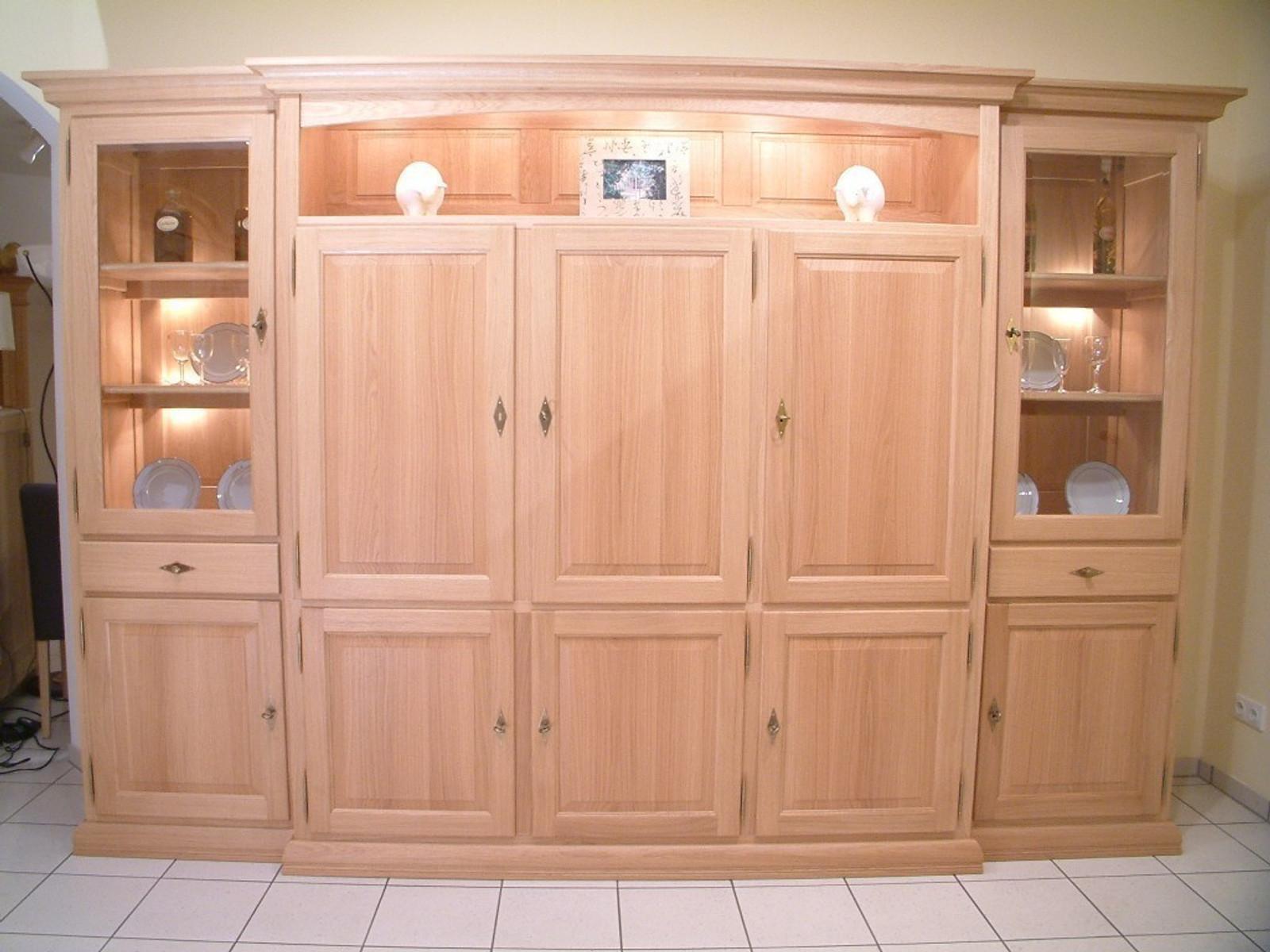 wohnschrank norden montreux 5 t rig mit nische und fernsehfach eiche buche oder kirschbaum. Black Bedroom Furniture Sets. Home Design Ideas
