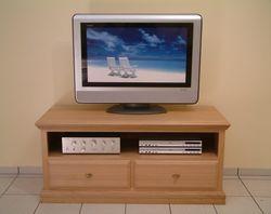 TV Anrichte Norden für Flachbild TV und Hifi-Geräte, Eiche massiv, im Landhaus-Stil