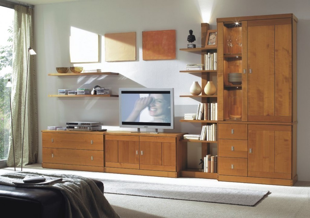 wohnwand kombination kantatus nr 12 vitrine tv. Black Bedroom Furniture Sets. Home Design Ideas