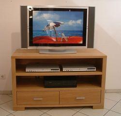 TV-Anrichte Natura, Breite 120 cm, mit 2 offenen Fächern für Geräte, mit 2 Schubladen für CD´s, Eiche massiv