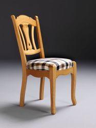 Stuhl Bückeburg Eiche, klassischer massiver Stuhl in gelaugt, geölt, Eiche natur, gebeitzt, rustikal etc.