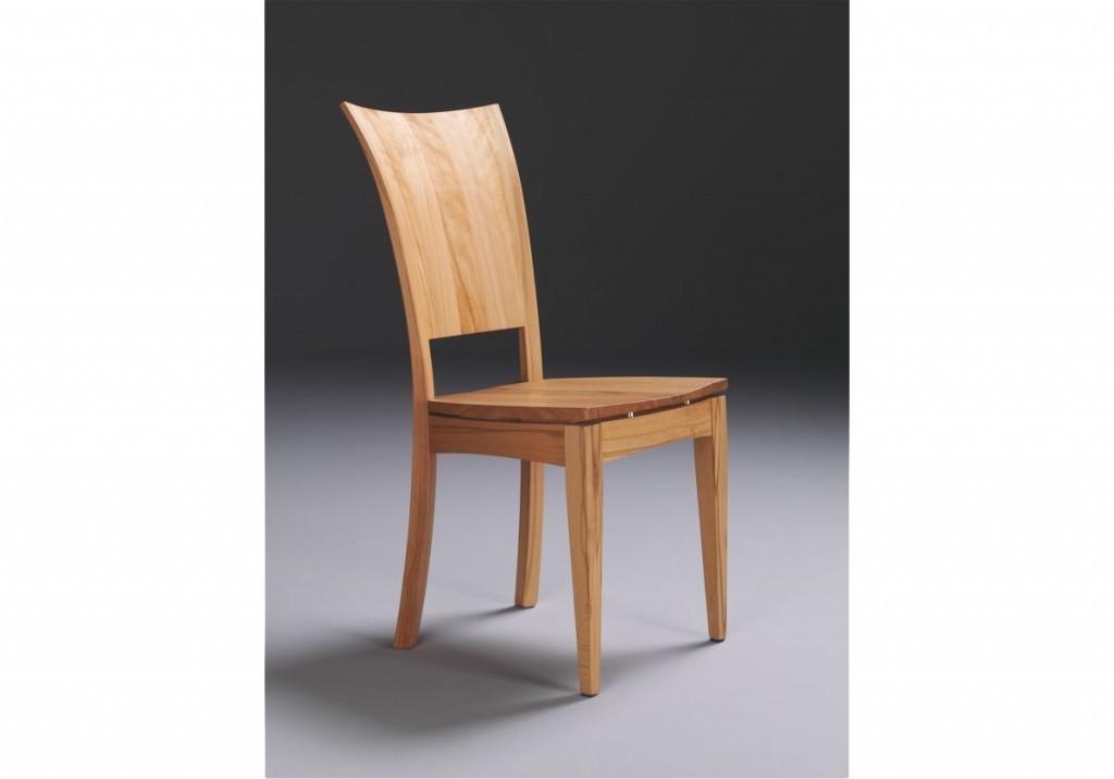 Stuhl Linum, Moderner Stuhl In Eiche, Kernbuche Nussbaum Oder Kirschbaum  Massiv, Rücken Dreidimensional ...