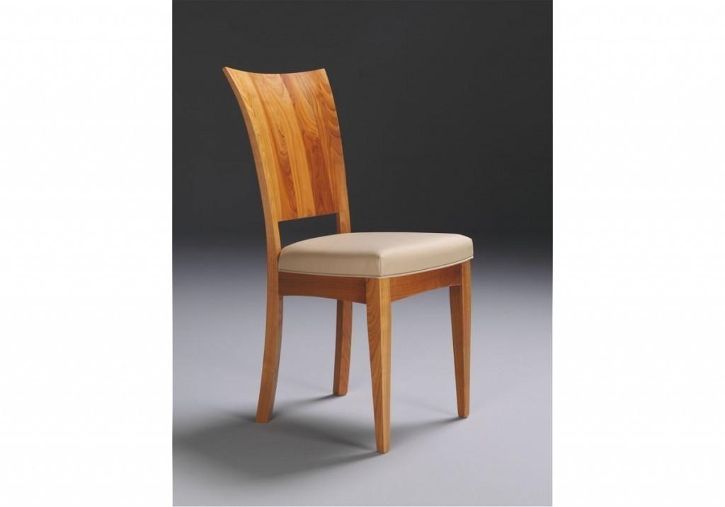 Stuhl Linum, Moderner Stuhl In Eiche, Kernbuche Nussbaum Oder Kirschbaum  Massiv, Rücken Dreidimensional Gebogen