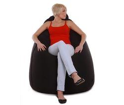 re-bax jumbo XL / Sitzsack mit Leder-Bezug  Objekt  / Größe: ca. 135cm / Durchmesser: ca. 90cm / Füllvolumen: ca.500l