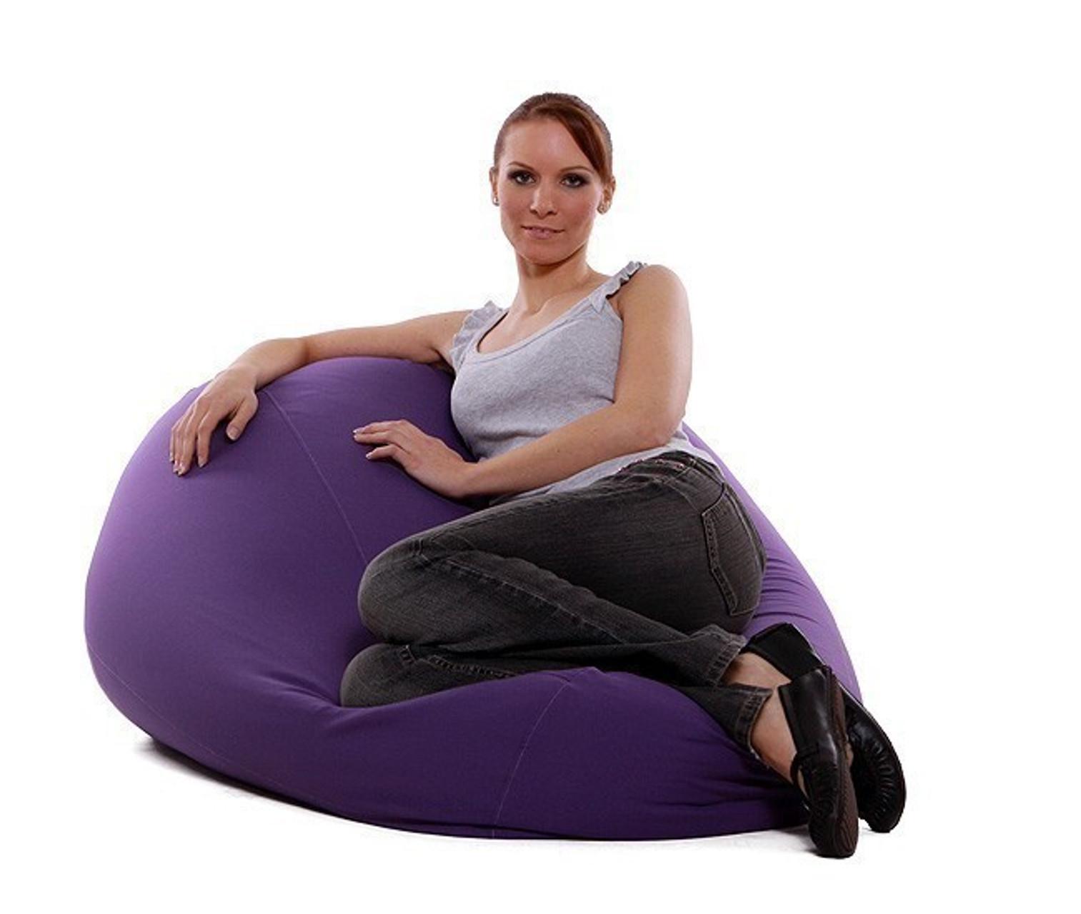 re bax maxi l sitzsack mit leder bezug tribe gr e ca 128 cm durchmesser ca 80 cm. Black Bedroom Furniture Sets. Home Design Ideas