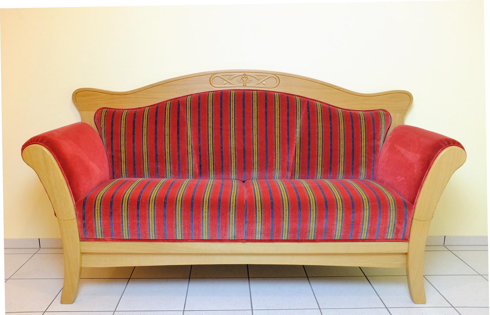 Tischsofa / Küchensofa / Esszimmersofa / Friesensofa Eiche massiv, gelaugt, rustikal oder auch hell und modern. Ein schönes Sofa für den Esstisch, Modell: Holdorf 190