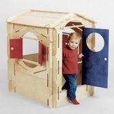 Bauka -Kinderspielhaus / Spielhaus aus Holz / Basis-Set  Haus / Kasperle / Mondfähre