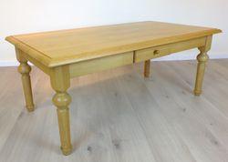 Couchtisch / Wohnzimmertisch / Sofatisch Asbeck mit Schublade, 130 cm x 70 cm, Höhe 52 cm, Holzart: Eiche vollmassiv