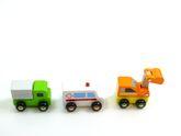 Schönes Fahrzeug-Set / Auto Set bestehend aus 6 Autos aus Holz / Länge der Minifahrzeuge ca. 8 cm / ab 18 Monaten