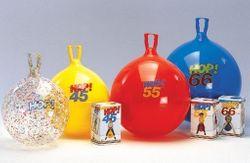 1x Hüpfball Hop 55 von GYMNIC / Kinder-Hüpfball mit Griff / Größe: Ø 55 cm / Farbe: rot / max. Belastung: 150 kg / 6+