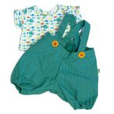 Kleidung Party Collection - Little Harry / 1 x grüne Hose mit bunt gemustertem Shirt passend für Little Rubens  Harry