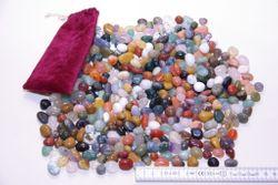 Echte Halbedelsteine, 1000 Gramm (Größe ca. 10-15mm)