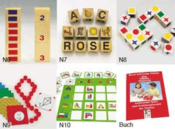 Das Nikitin Frühförderpaket (Spiele N6 bis N10 + Buch) / für Spieler ab 3 Jahren