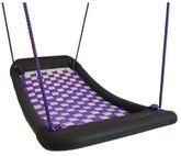Kleine Mehrkindschaukel - Standard M / Farbe: weiss/violett / montierbar an jedes Schaukelgerät oder im Haus an Betondecken oder Holzbalken / Maße: 109 x 53 x 12 cm / Gewicht: 5,5 kg