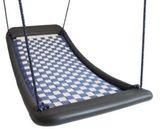 Große Mehrkindschaukel - Standard L / Farbe: silber/blau / montierbar an jedes Schaukelgerät oder im Haus an Betondecken oder Holzbalken / Maße: 136 x 66 x 15 cm / Gewicht: 7 kg