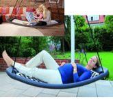 Relax-Schaukel - LifestyleStandard EL / Farbe: silber/blau / Montierbar an jedes Schaukelgestell bzw. im Haus an Betondecken oder Holzbalken / Maße: 166 x 66 x 22 cm / Gewicht: 8,5 kg
