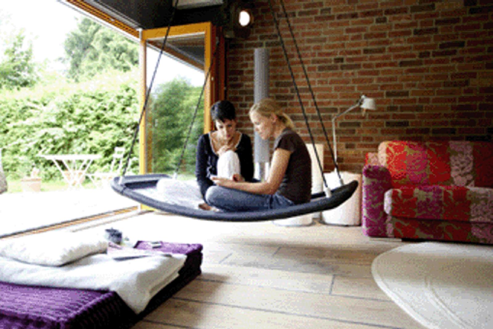 relax schaukel lifestyle plus xl extra lang extra breit farbe wei schwarz im haus an. Black Bedroom Furniture Sets. Home Design Ideas